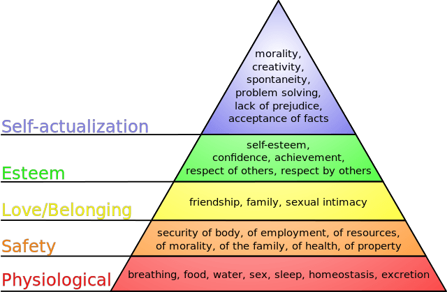 maslow's hierarchy of needs safety