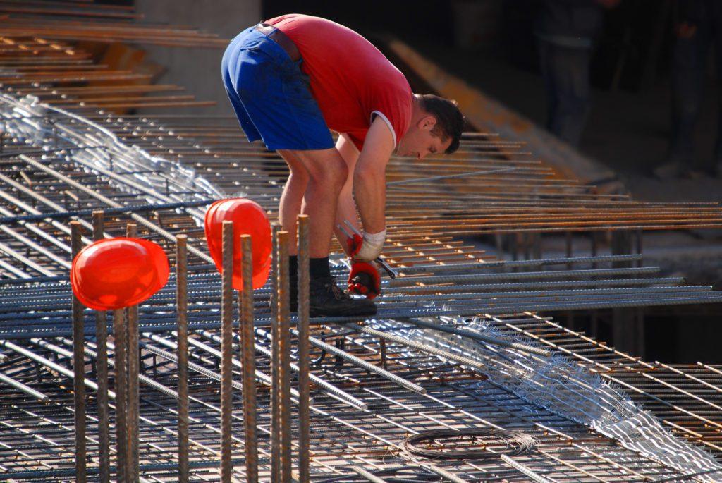 worker taking risks