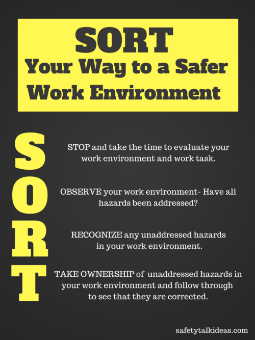 Sort Your Way to a Safer Work Environment Safety Poster