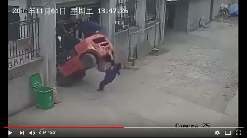 Woman Crushed by Forklift