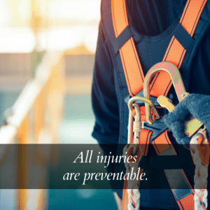 all injuries preventable safety quote