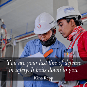 last line of defense safety message